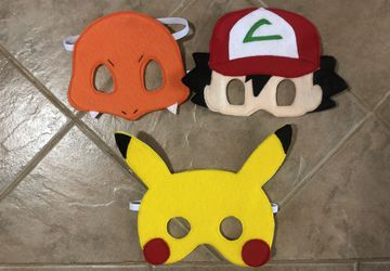 Felt Pokémon Inspired Masks, dramatic play, playtime fun, costume accessories