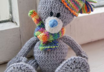 Teddy Bear in in a knitted outfit