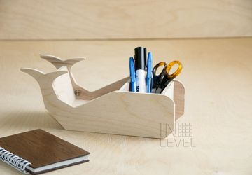 "A holder for stationery ""A whale"""