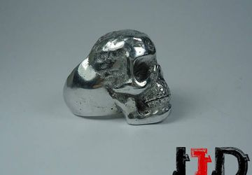 Silver Skull Ring - Skull Jewelry - Biker Jewelry - Demon Jewelry - Demon Ring - Biker Ring - Black Metal Ring - Gothic Ring - Death Metal