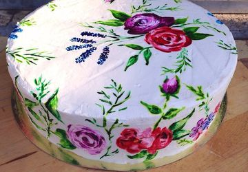 """Water-color"" cake"