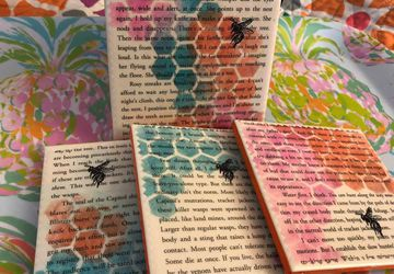 Tracker Jackers  |  Hunger Games Upcycled Book Page Coasters