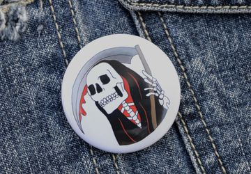 Grim Reaper Pin Badge