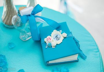 "A jewel-box in form of a book ""Blue"""