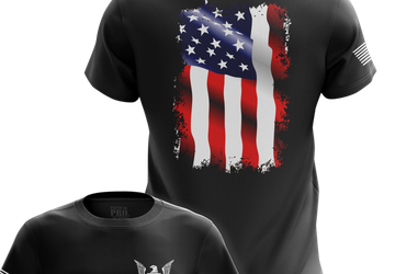Waving Flag Mens Military T-Shirts | Tactical Pro Supply