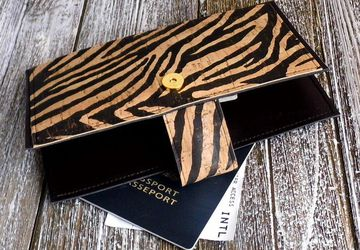 Zebra Print Travel Wallet