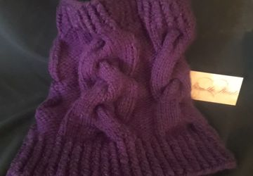 Aubergine Cabled Cowl