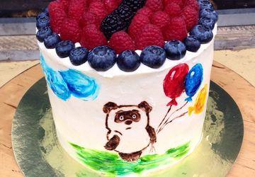"A cake ""Winnie the Pooh"""