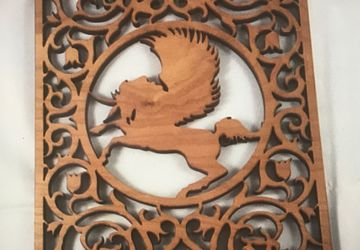 unicorn wooden picture