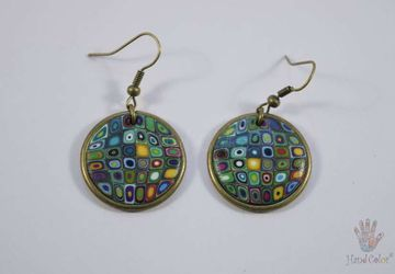 Gustav Klimt Round Earrings - BCDK-0-43