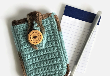 Robin's Egg Blue Small Notepad Case