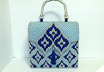 Royal Blue,Powder Blue and Sliver Large Handbag