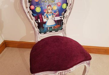 Alice in Wonderland themed chair