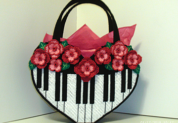 large Piano Handbag/Tote bag