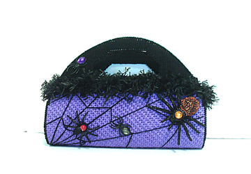 Purple and Black large Halloween Clutch/Evening bag