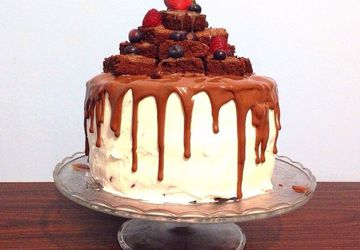 Chocolate cake with jam