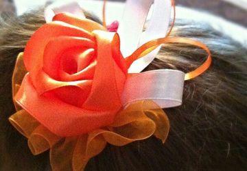 Handmade ribbon bobby-pins