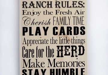 Ranch Rules, Custom Ranch Signs, Ranch Décor, Ranch House Décor, Custom Signs, Father's Day, Custom Wood Signs, Country Wall Décor, Wall Art