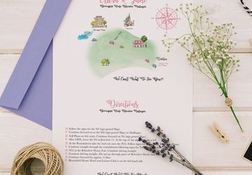 Wedding Map with Directions