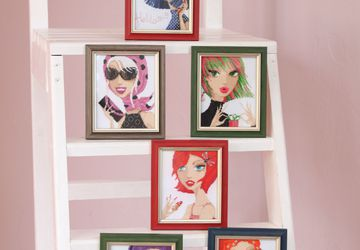 Finished cross stitch embroidered pictures 6 pcs