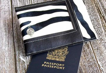 Black and White Travel Wallet