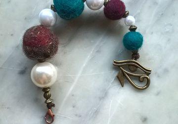 Charm per borse, pendente grande, decorazione portachiavi e zip, abbellimento chiusure borsa, perle di feltro e acrilico