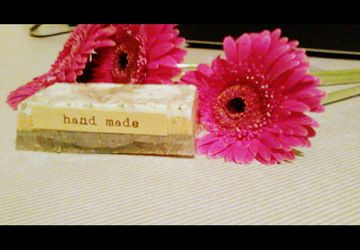 Handmade soap with olive oil and lavender