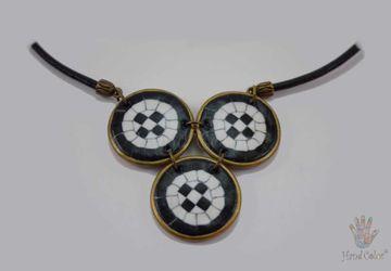 Portuguese Cobblestone Indigo Necklace - CIDC-7-28
