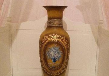 A floor standing vintage vase