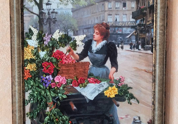 """A picture """"Young flower lady"""""""