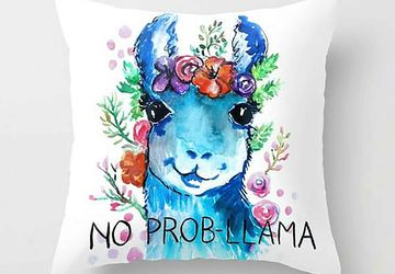 No Prob-llama pillow