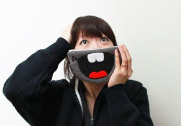 The 'HAHAHA' Zipper Coin or iPhone Purse