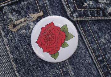 Rose Pin Badge