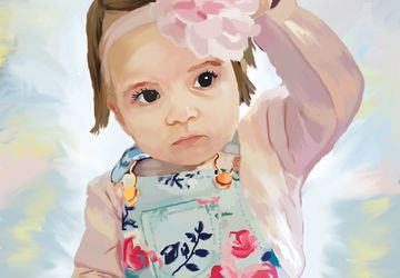 Custom Portrait Painting- Digital - Illustrated From Your Photos