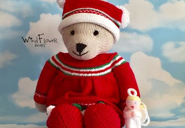 Hand knitted teddy bear Ivy