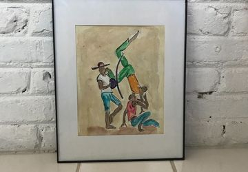 Capoeira - Original Watercolor Painting