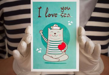 "Postcard ""I Love You (Sea)"""