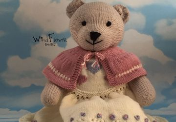 Hand knitted teddy bear Mallow
