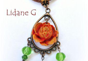 "A pendant ""Rose"""