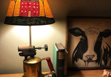 Re-purposed Vintage Blow Torch Lamp