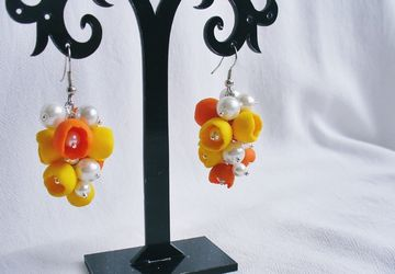 Earrings with bellflowers