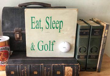 Eat sleep & golf sign | Golf wooden sign | fathers day sign | dad sign | unique father's Day gift | Golf | i'd rather be golfing