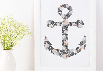 anchor wall art, nautical decor.