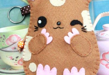 Joobie Hamster in Eco-Friendly Felt Pouch For IPhone 5/6, Samsung S6/S7