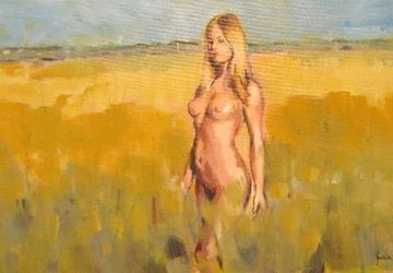 A girl in a field