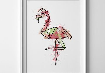 Flamingo print, flamingo wall art