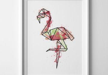 Flamingo print, flamingo wall art