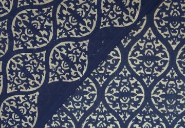 India hand block printed cotton fabric,  natural hand dyed organic colors