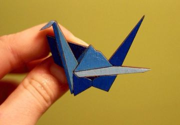 """Crane"" - a wooden brooch"