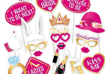 Hens Night Photo Props – 21 Piece Set | Pecka Products